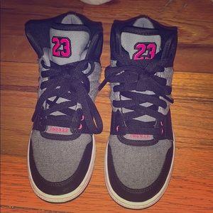Juniors Nike Jordan GG  Cool Grey Pink Black 3.5